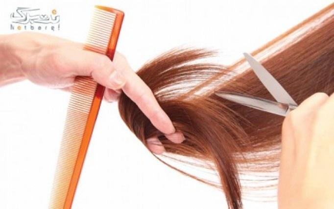کوتاهی مو در آرایشگاه ترگل
