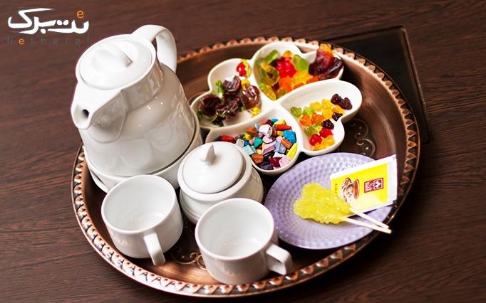 چای سنتی مصری VIP در کافه سنتی تاریک
