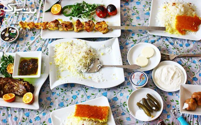 غذای ایرانی در رستوران دارچین شاندیز
