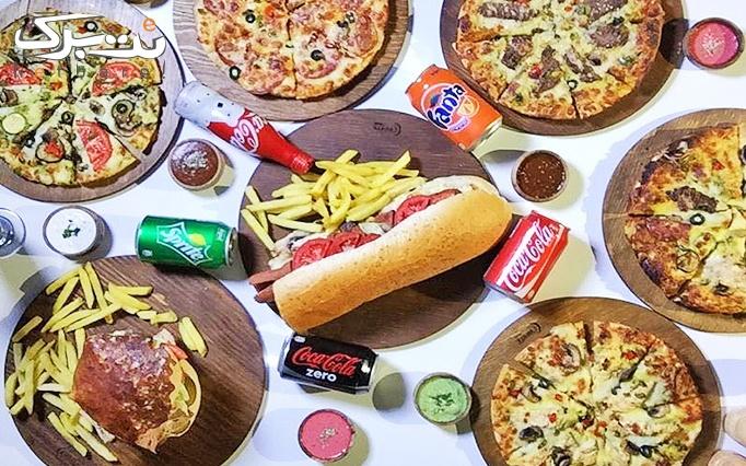پیتزا ، ساندویچ و برگر در رستوران ایتالیایی بانش