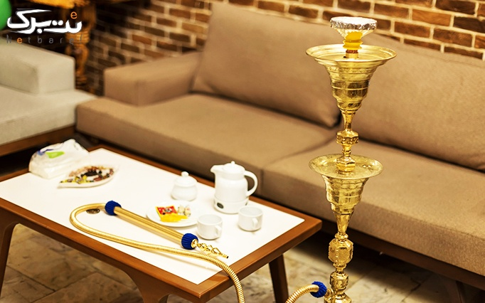 سرویس چای سنتی عربی در سفره خانه ساهی