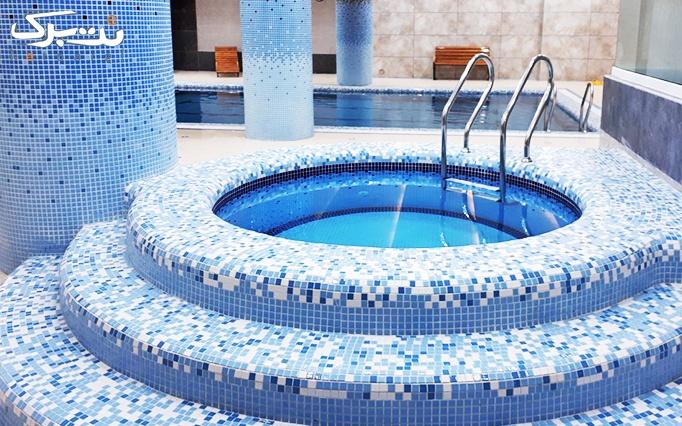 شنا در استخر هتل پارسیس