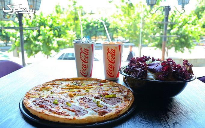 منو پیتزا در فست فود آلپارو