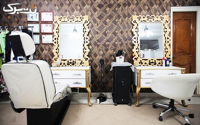 کوتاهی مو و اصلاح ابرو در آرایشگاه رزالین