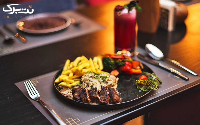 منو باز غذا در رستوران عربی آشا