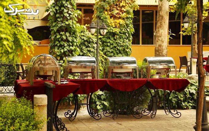 منو کافه در رستوران چای باغ ونک
