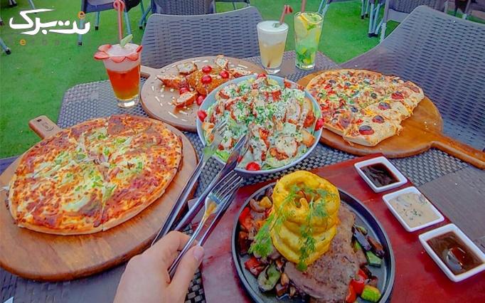 پیتزا ، پاستا و برگر در رستوران ایتالیایی دوپیانو