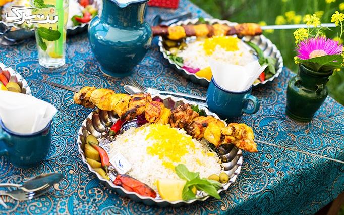 غذاهای اصیل در رستوران ایل بختیاری