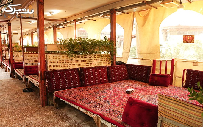 منو غذاهای ایرانی در باغچه رستوران صفا