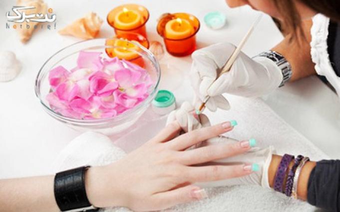 دستان زیبا با کاشت ناخن در سالن زیبایی الهه
