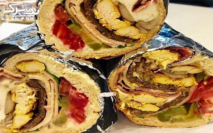 منو ساندویچ های غول در فست فود سامان