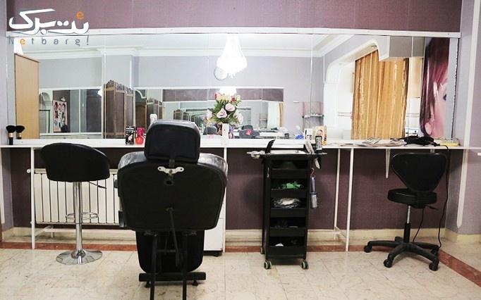 بافت شاخه ای مو و شینیون در آرایشگاه الماس بنفش