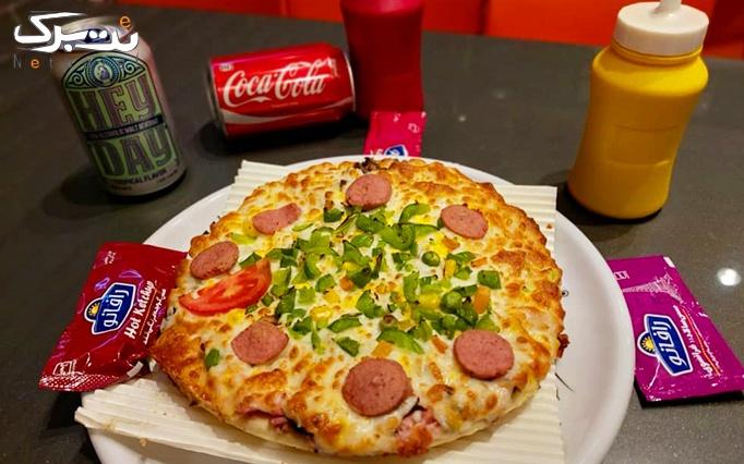 فست فود ثمین با منو پیتزا