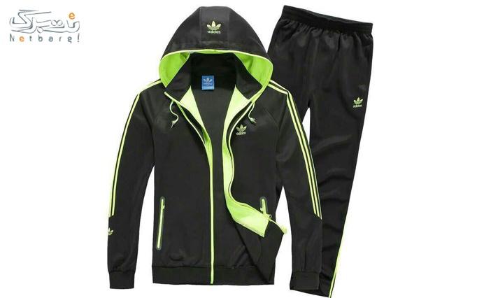 پکیج 1 : لباس ورزشی مردانه آدیداس شامل کاپشن و شلوار ورزشی