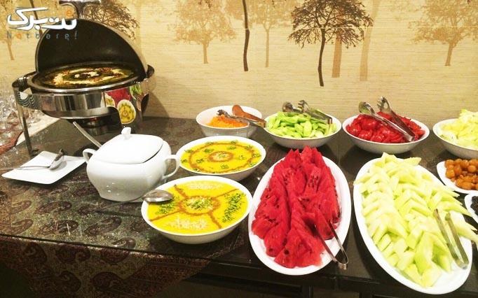 بوفه افطار در رستوران شیک و مجلل حافظ