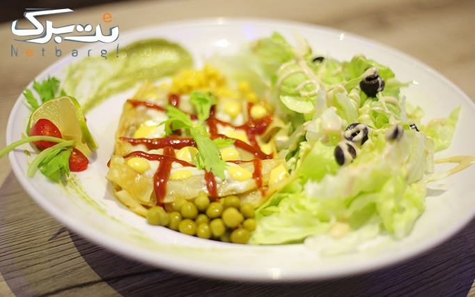کافه رستوران ایماژ با منوی غذای اصلی