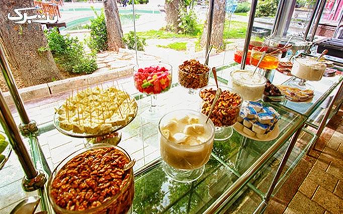 کافه گالری فرشته با بوفه صبحانه به صورت آزاد
