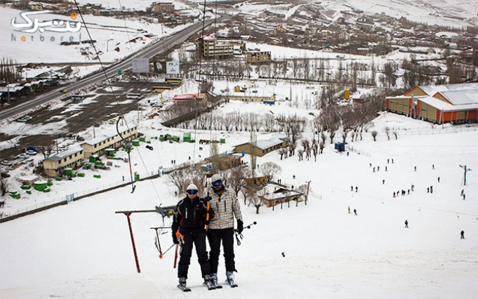 لذت اسکی و برف بازی در پیست پر برف آبعلی