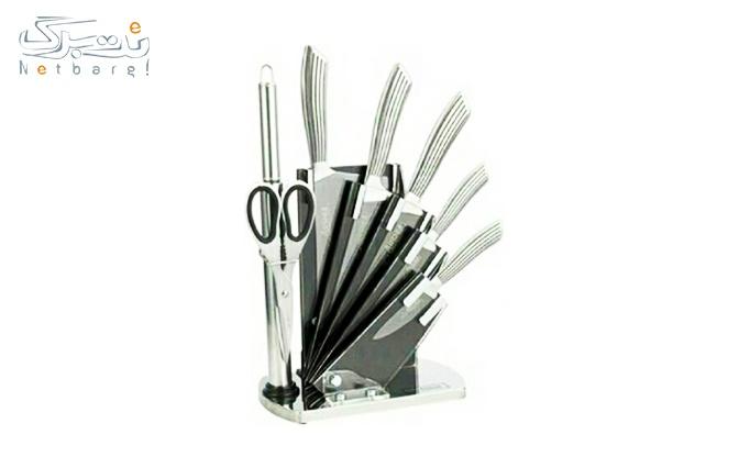 چاقو پایه دار 8 تیکه در 6 طرح از فروشگاه دسینی شاپ