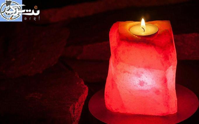 شمعدان سنگ نمک مهرافروز1 از مهرنگار