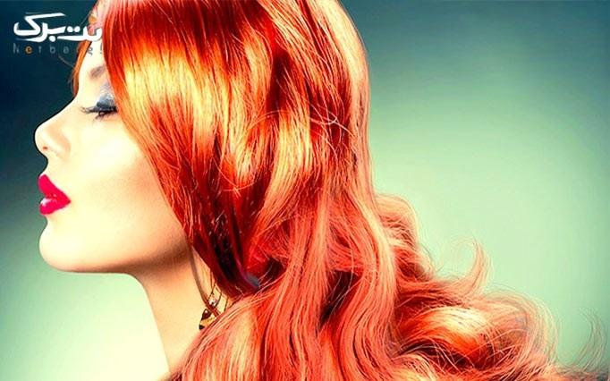 رنگ مو در آرایشگاه ملک آئین