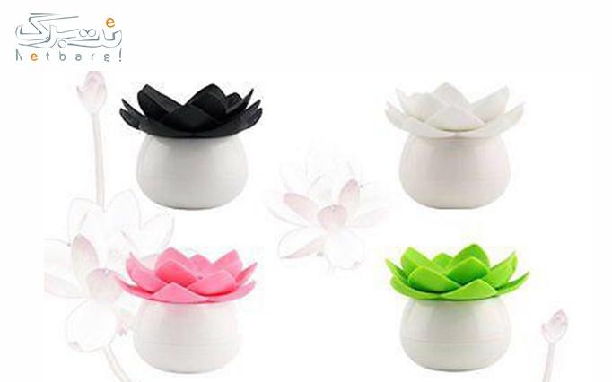 ظرف خلال و گوش پاک کن طرح گل از فروشگاه آروگو 2