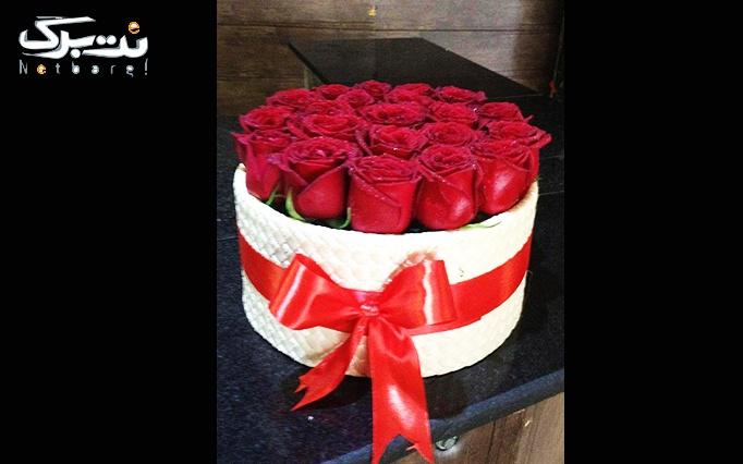 تزئین انواع باکس گل طبیعی در گل فروشی من و تو