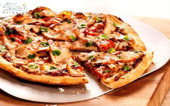 انواع ساندویچ، برگر، پیتزا و خوراک در خانه دودی