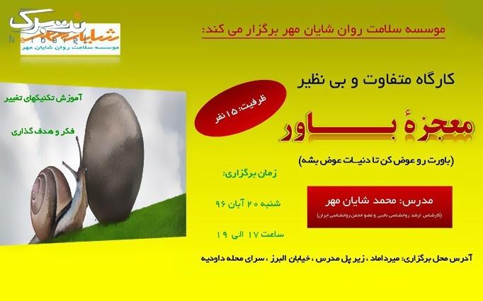 کارگاه معجزه باور در موسسه شایان مهر