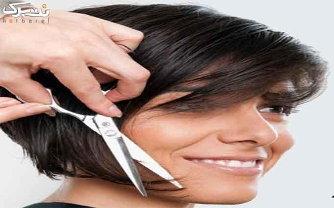 کوتاهی و براشینگ مو در آرایشگاه فریال