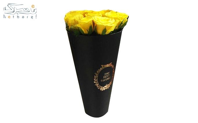 باکس گل رز استوانه ای از فروشگاه گل سوگلی