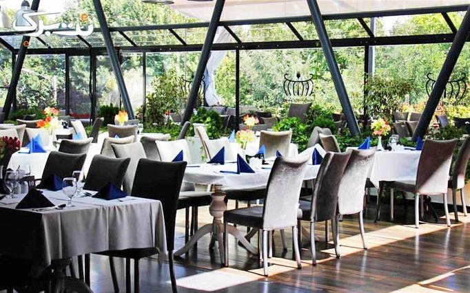 رستوران تراس با منو باز غذای فرنگی و ایرانی