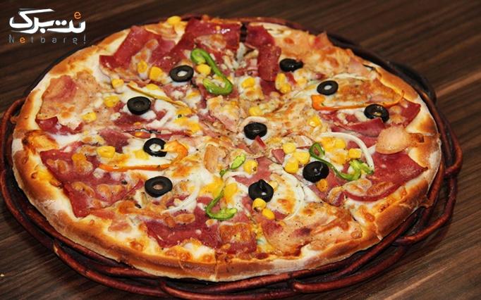 رستوران شیشه ای زیتون لبنان منو باز انواع پیتزا