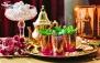 سفره خانه مراکشی مغرب با سینی افطاری و چای سنتی