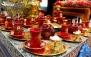 منو غذایی و سرویس چای سنتی در کافه رستوران ژاوی