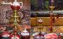 رستوران امپراطور با منوی باز و چای سنتی