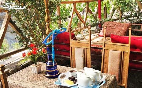 سرویس چای و قلیان در رستوران سوارین