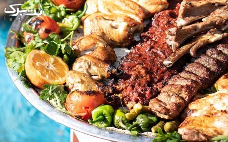 منو باز غذایی در باغچه رستوران سهیل