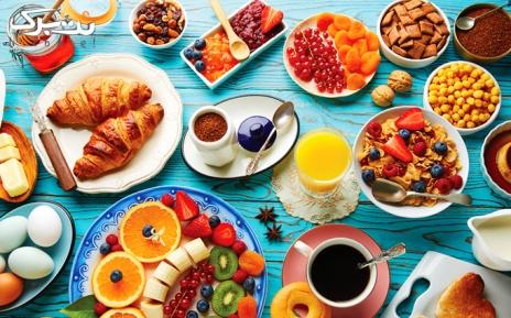 بوفه صبحانه لاکچری هتل بلوط ولنجک ویژه ایام هفته