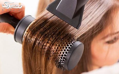 براشینگ موی متوسط در سالن مونا سالاری