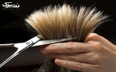کوتاهی مو در آرایشگاه آئینه