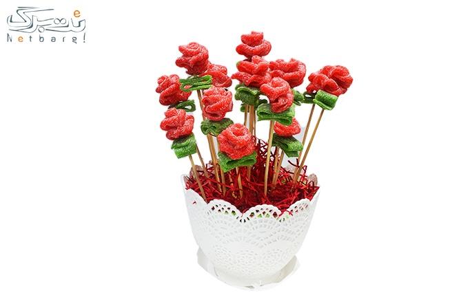 گلدان گل رز پاستیلی از خانه بستوکی ویژه ولنتاین