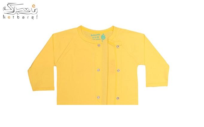 لباس نوزادی  جلو دکمه دار طرح هشت پاMLZ17