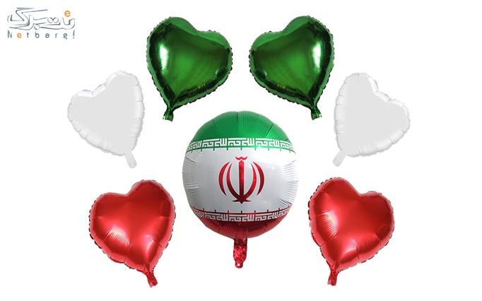 ست بادکنک فویلی پرچم ایران مدل STF2003