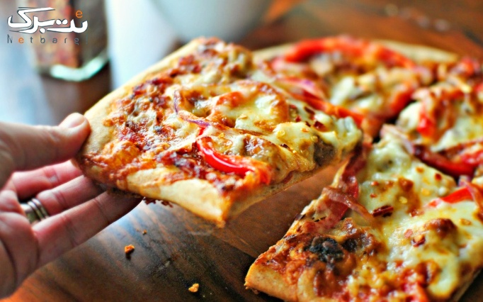 فست فود کلبه با منو پیتزا، ساندویچ و برگر