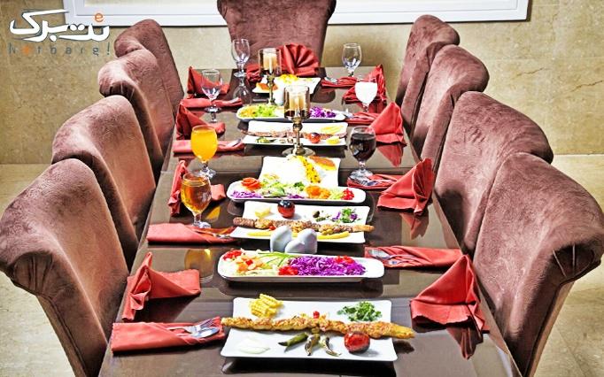 بوفه صبحانه در رستوران لوکس ظفر