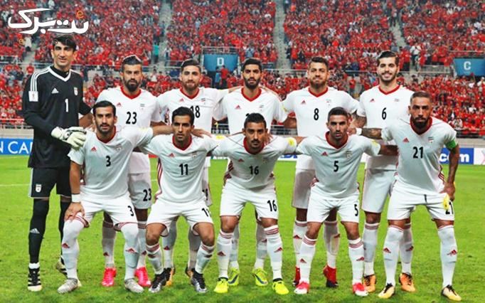 فوتبال ایران و ژاپن در سرای محله شهرآرا(آمفی تاتر)