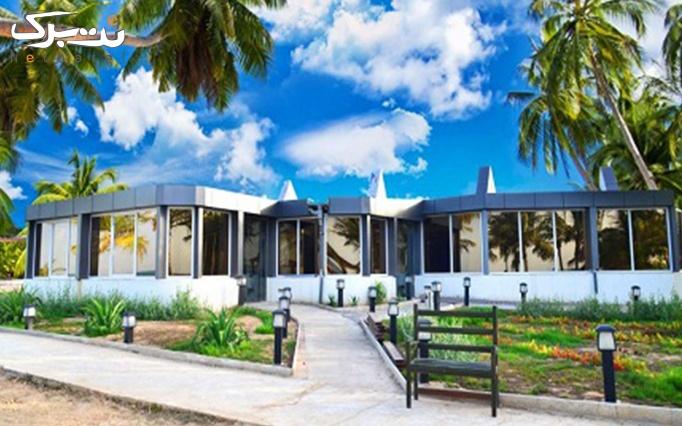 ورودی رستوران ساحلی و موزیکال میرمهنا در جزیره کیش