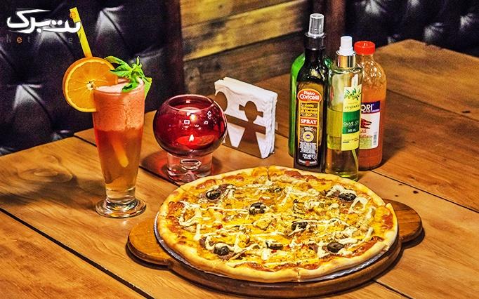 پیتزا ، خوراک و برگر در رستوران ایتالیایی آوا پلاس