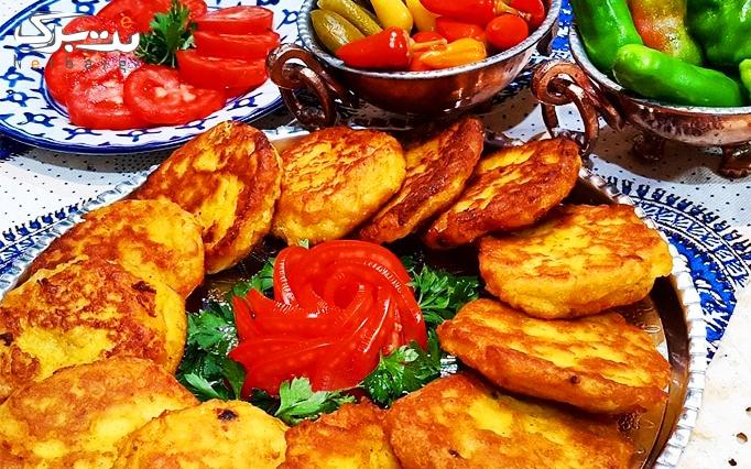 منو غذاهای سنتی در رستوران معین